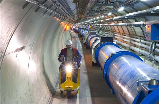 Part of the LHC ring (image ©CERN 2008)