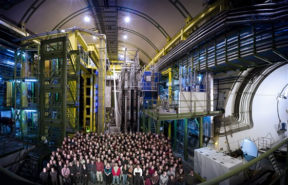 The LHCb collaboration seen in the cavern