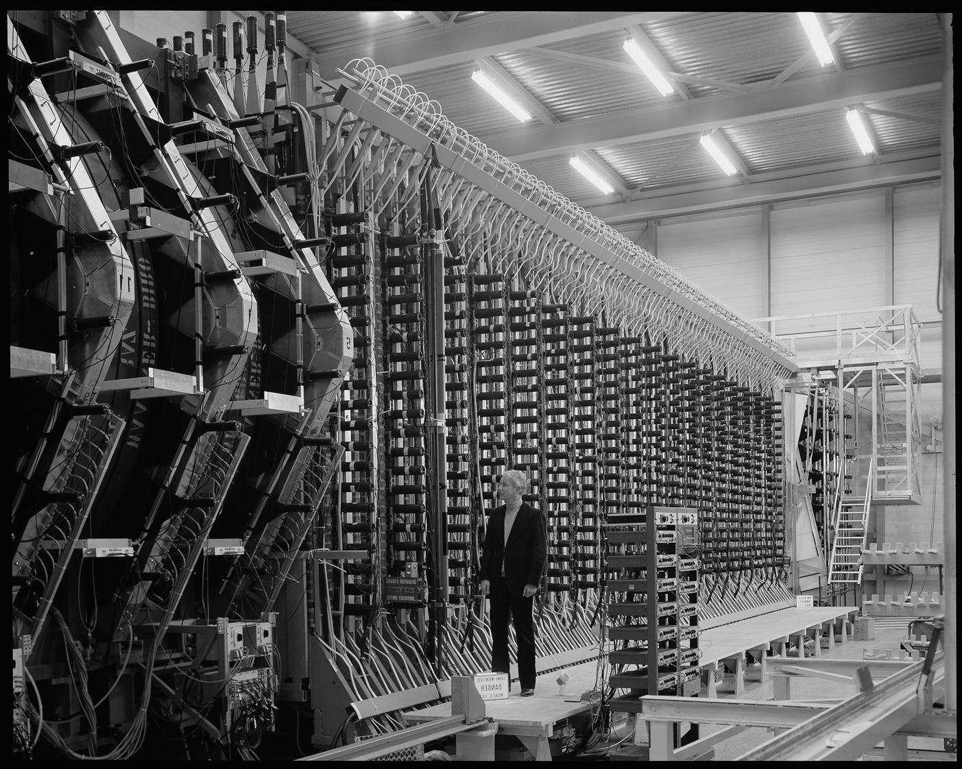 Elusive Neutrinos : the picture shows Klaus Winter, who worked on the 100 tonne CHARM experiment.