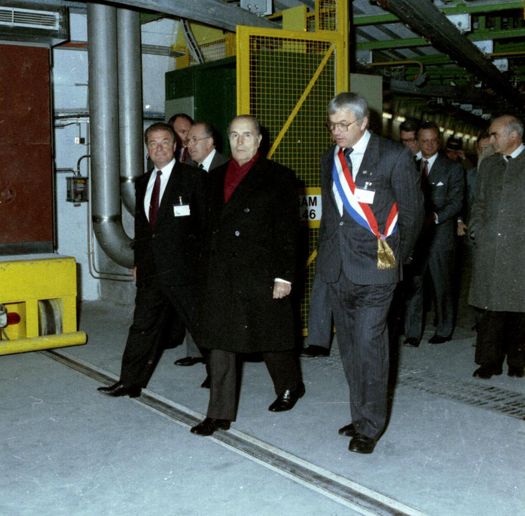 Visit of Francois Mitterand in 1989