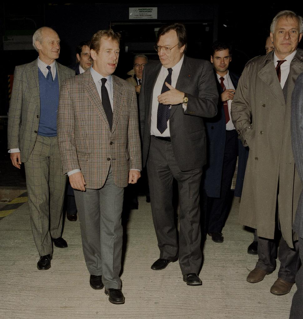 Visit of Vaclav Havel in 1990