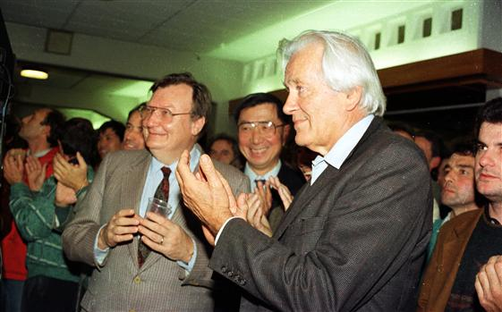 Three Nobel Prize winners at CERN: Rubbia, Ting and Charpak