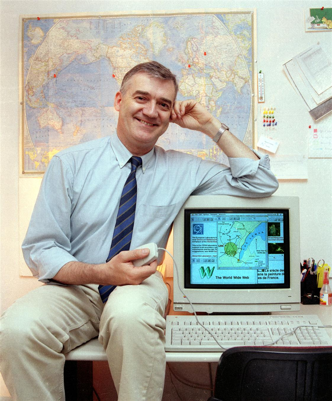 Robert Cailliau, a systems engineer at CERN who was Tim Berners-Lee's first partner on the World Wide Web project.