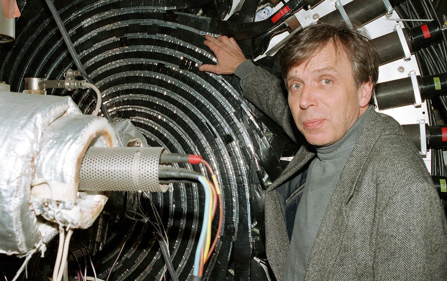 Professor Walter Oelert, leader of the team which created the first atoms of antihydrogen at the Low Energy Antiproton Ring (LEAR) in January 1996