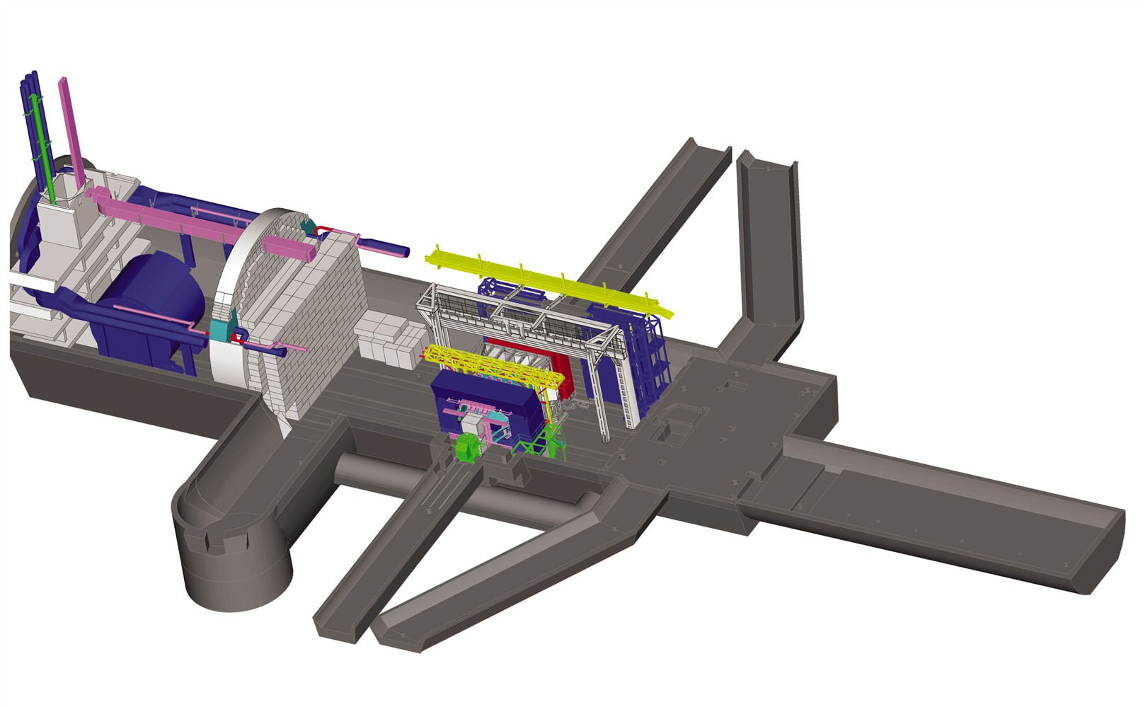 A computer-generated image of the LHCb detector