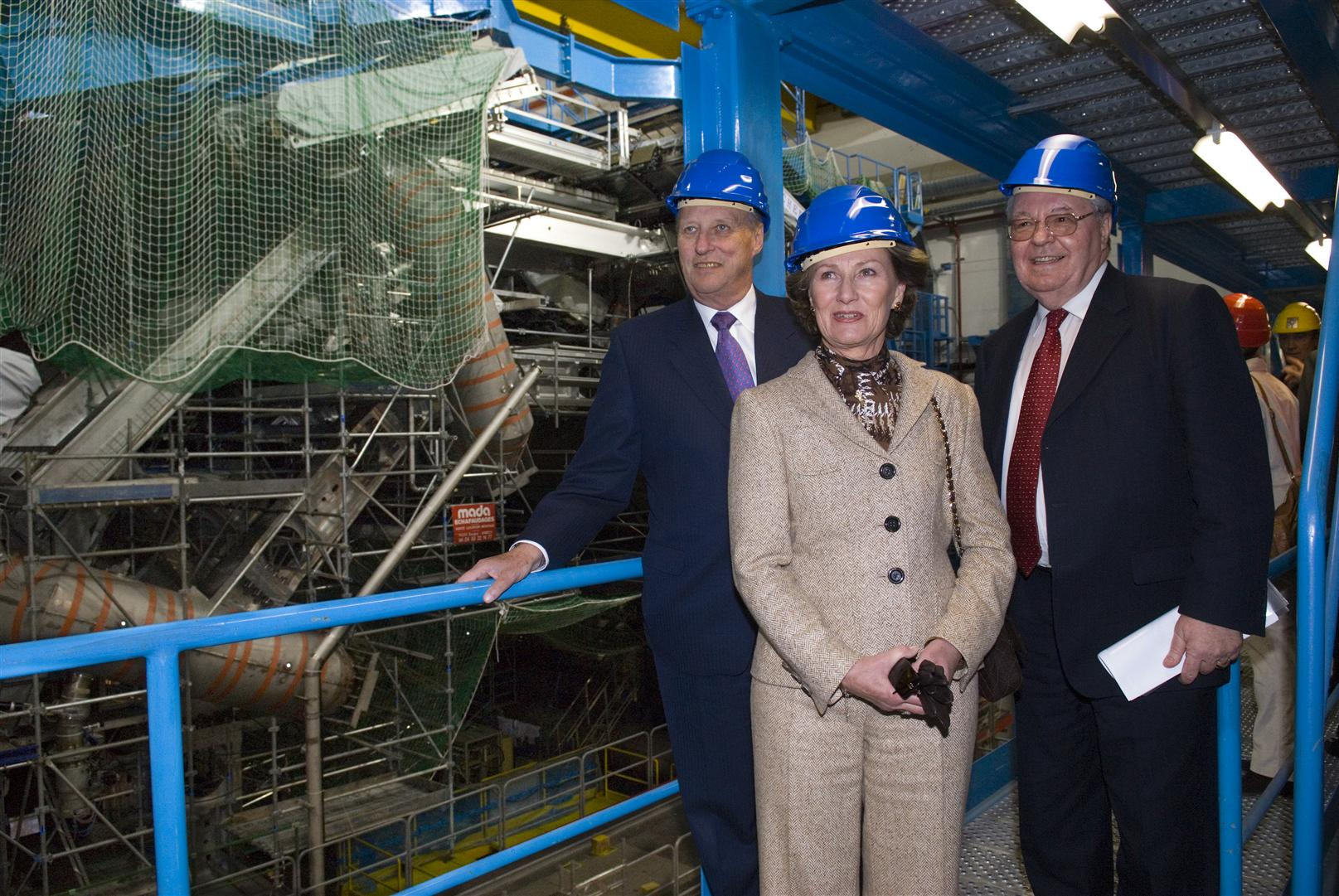 King Harald V and Queen Sonja of Norway visit CERN