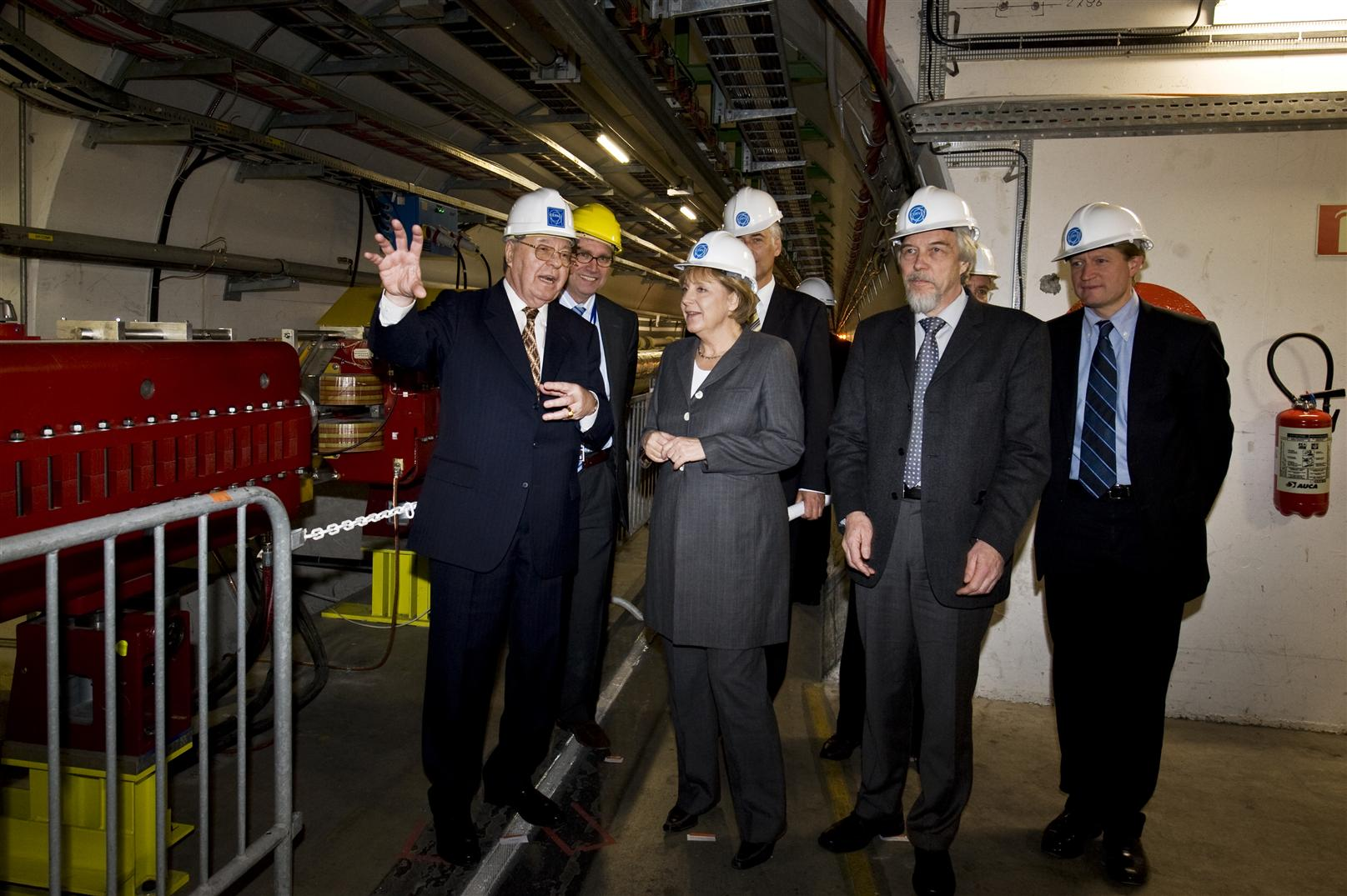 German Chancellor, Angela Merkel, visits CERN in April 2008