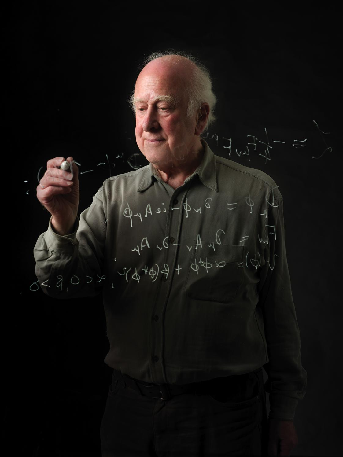 Peter Higgs visits CERN in April 2008