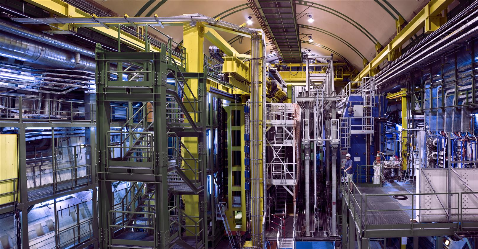 View of the detector LHCb.