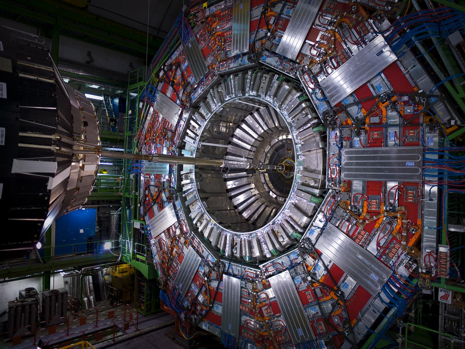 View of the CMS Detector before closure