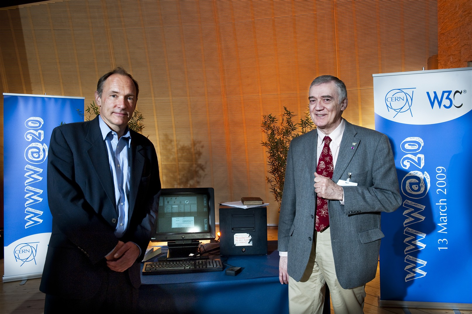 Tim Berners Lee, Robert Cailliau and the NeXT computer.