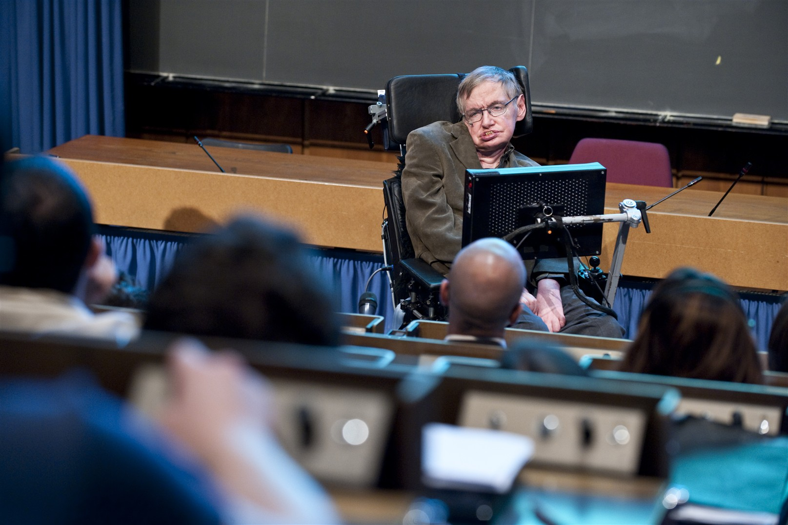 Professor Hawking (University of Cambridge) gives a conference at CERN : The Creation of the Universe.