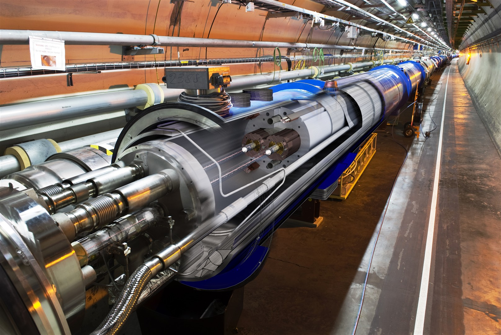 3d view photo of the LHC Machine.