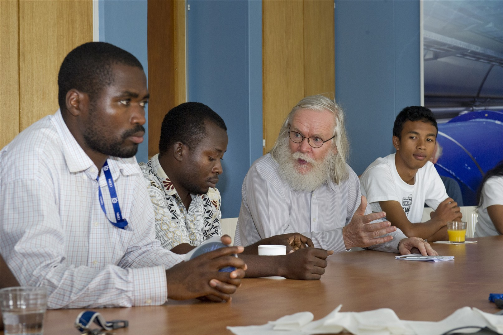 Meeting between African Summer Students & High-School Teachers and Prof. Rolf Heuer, CERN Director General