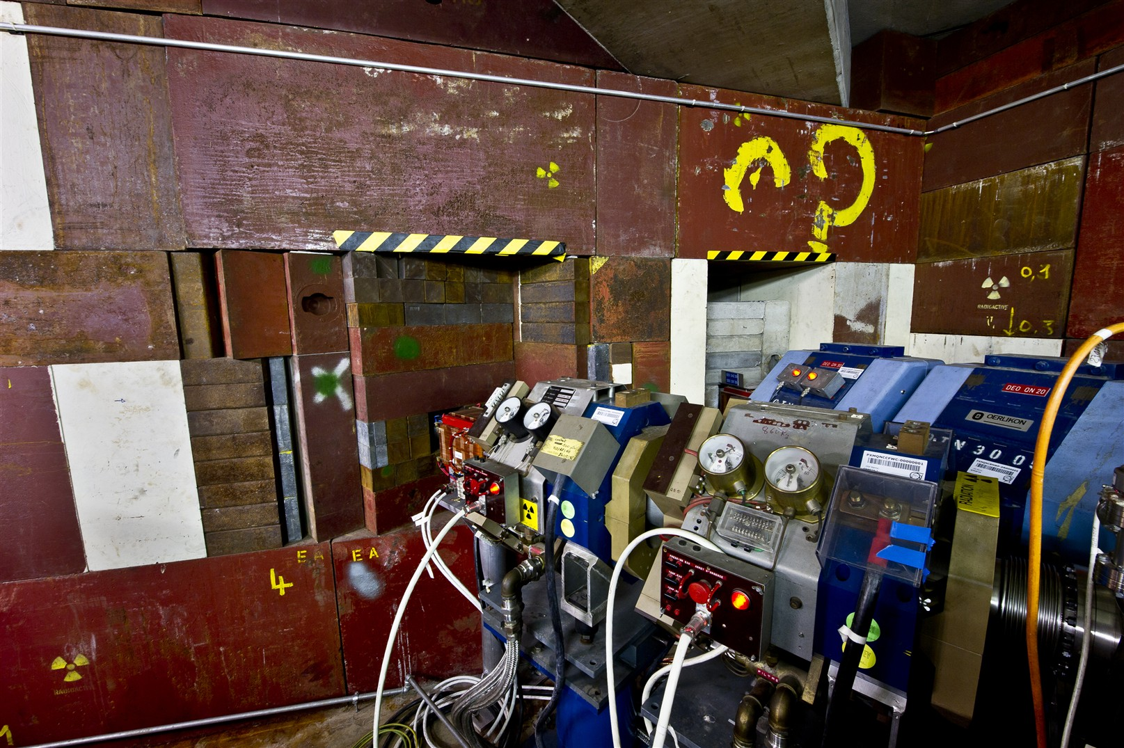 View of the CERN Antiproton Decelerator (AD) and portrait of Prof. Tommy Eriksson, in charge of the AD machine.