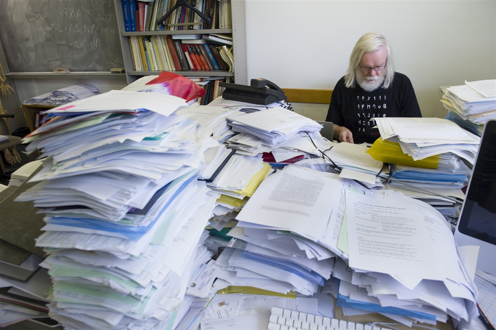Prof. John Ellis in his office - July 2011.